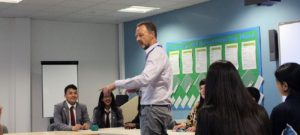 Chief Executive of the Co-op Steve Murrells visits
