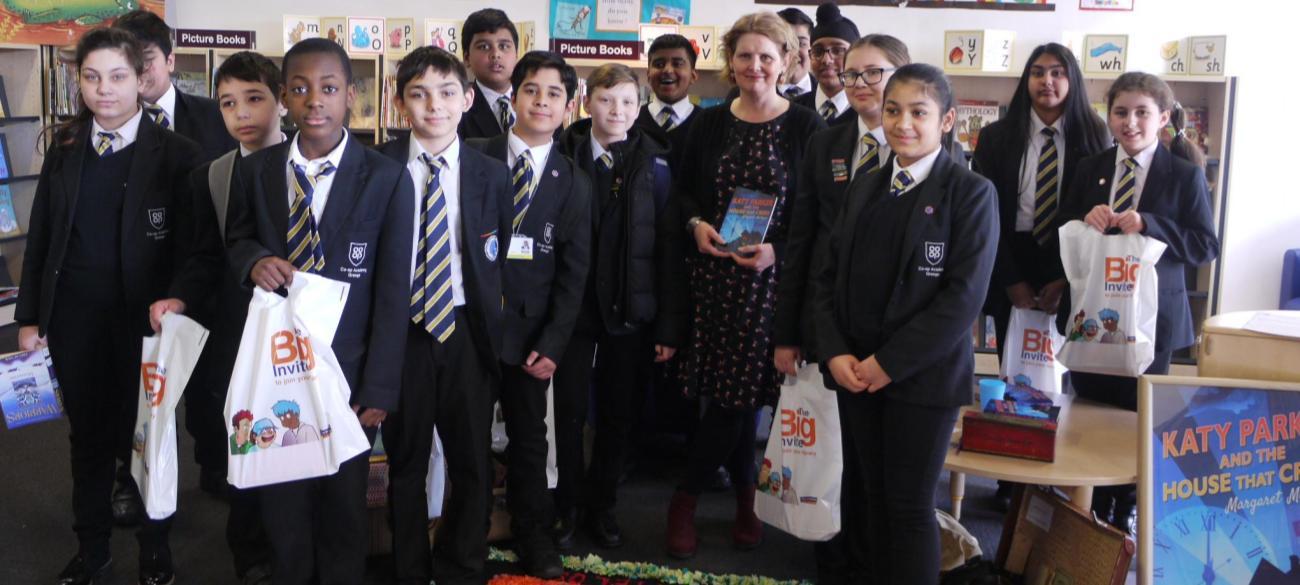 World Book Day trip to Bradford Library to meet author Margaret Mulligan
